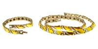 Турмалиновый набор украшений: ожерелье и браслет