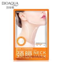 Тканевая маска для области шеи BioAqua с сывороткой на основе гиалуроновой кислоты и муцином улитки