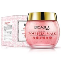 Ночная маска для лица BioAqua с лепестками роз