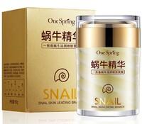 Омолаживающий крем для лица One Spring с муцином улитки с эффектом сияния кожи